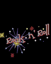 Rock and Roll rhinestud design