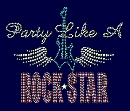 Party like a Rock Star rhinestud design