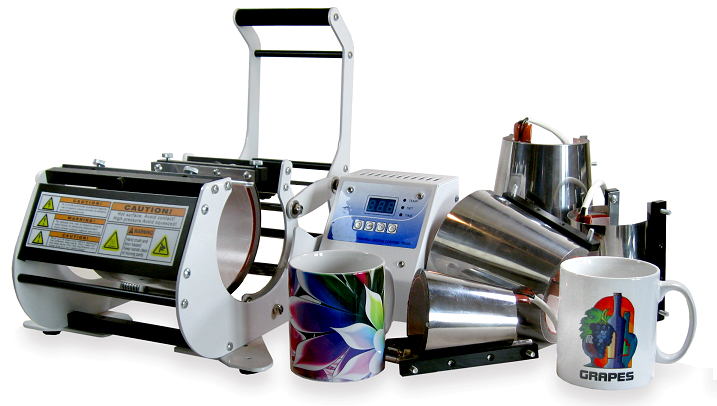 Mug Press Kit With Six Attachments For Dye Sublimation