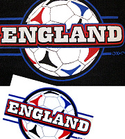 England football sleeve/breast pocket logo heat transfer