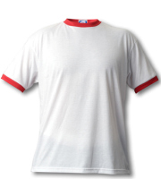 Vapor Ringer t-shirt white and red