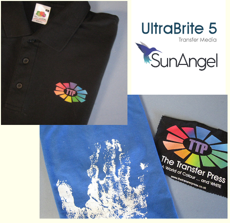 SunAngel UltraBrite 5 transfer media for dark fabrics