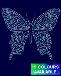 Swallowtail butterfly rhinestud design