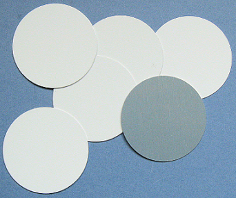 Aluminium circle 50mm white