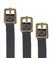 Leather strap for luggage tags