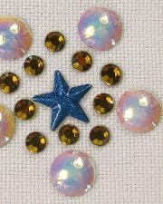 Star nailhead and rhinestone design