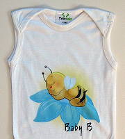 Three Oaks sleeveless babygro