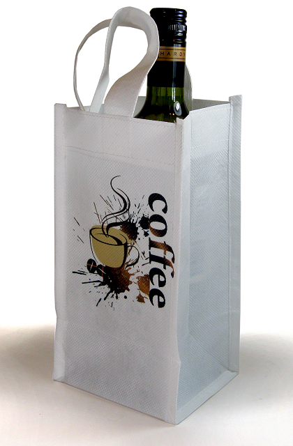 Canvas Bottle Tote Bag For Dye Sublimation Printing