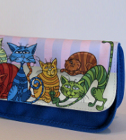 Pencil case/make up bag blue