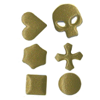 Nailhead shapes brass