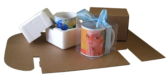 Cardboard mug mailing box pack of 75