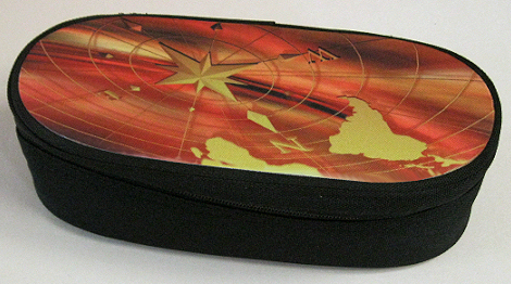 Oval shaped pencil case black