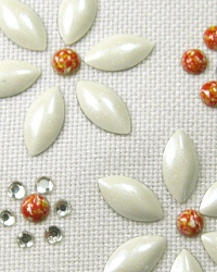 White flower nailhead design