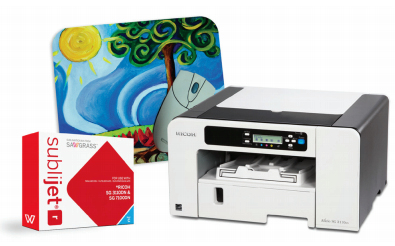Ricoh printer with SubliJet-R inks