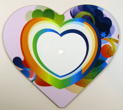 Heart shaped MDF clock face