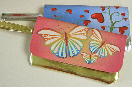 Make up bags with detachable flaps