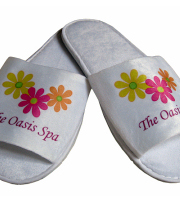 Unisex travel slippers with open toe