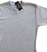 Special offer - SubliSoft ladyfit t-shirt ash grey v-neck small