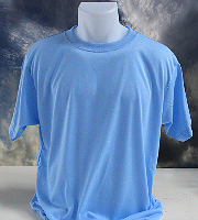 Vapor Apparel adult basic t-shirt in blizzard blue