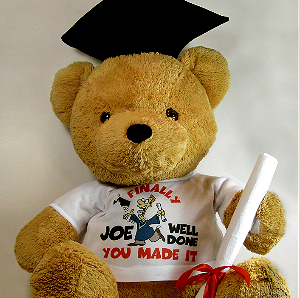 Graduate bear with dye sublimation printable t-shirt