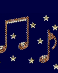 Musical Notes rhinestud design