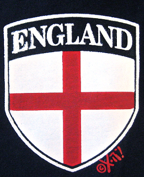 England sleeve/breast pocket logo heat transfer