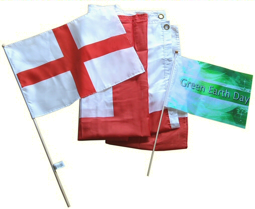 St George's hand waving flag
