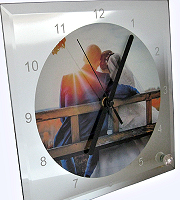 Square glass clock - pack of two
