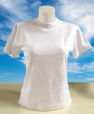 SubliSoft ladyfit t-shirt white
