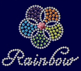 Rainbow rhinestone and nailhead design
