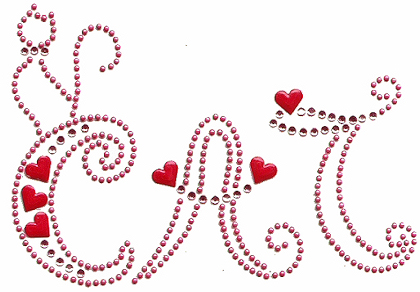 Cat and heart rhinestone and nailhead design