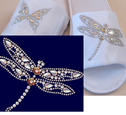 Dragonfly nailhead design
