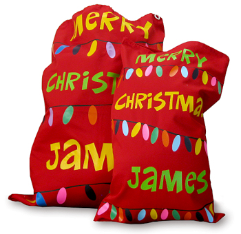Santa sack cotton drill red 70 x 48 cm