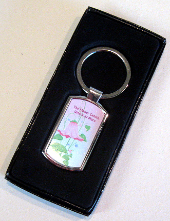 Keyring rectangular shaped silver with presentation box (03)