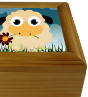 "Maple wooden keepsake box insert size 4.25"" x 4.25"""