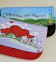 Pencil case/make up bag red