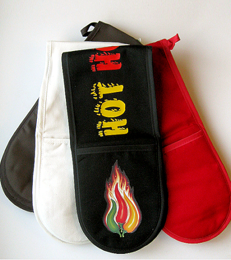 Oven glove (double handed) cotton