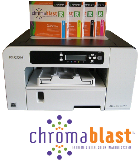 Ricoh SG3110 A4 ChromaBlast printer package