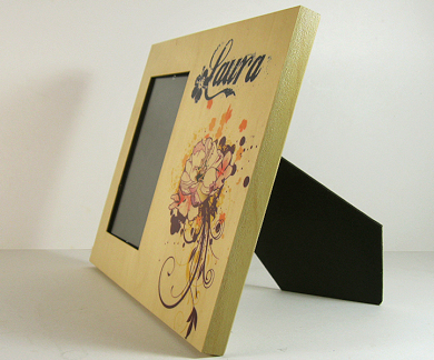 Unisub natural wood picture frame