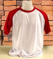 Sublimshirt bicolour short sleeved red