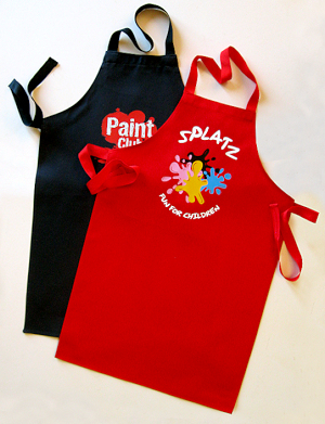Cotton apron dark colours - child size