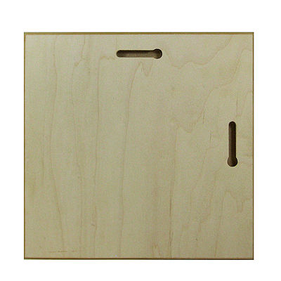 ChromaLuxe natural wood plaque 203 x 203 mm