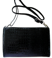 Clutch bag with detachable strap