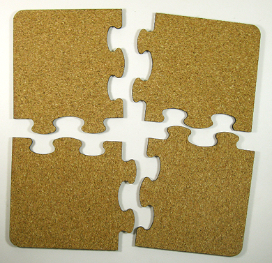 Unisub cork backed jigsaw puzzle coaster