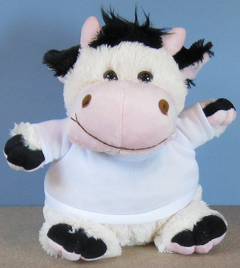 Crazy Critter Clover Cow Standard Size Soft Toy With T