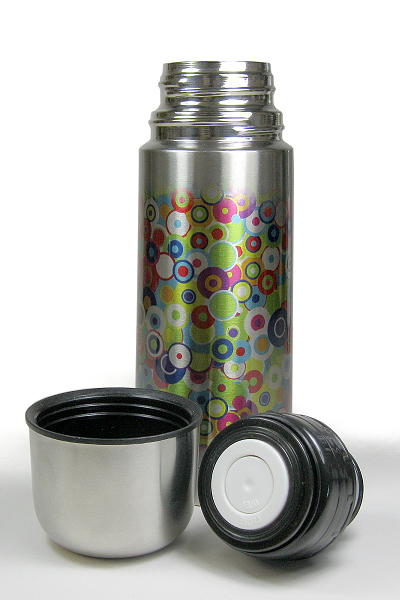 Stainless steel flask with steel cup