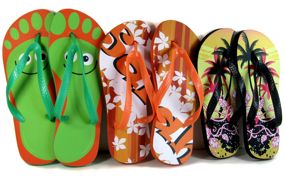 e9e86a693 Adult and child flip flops for dye sublimation printing