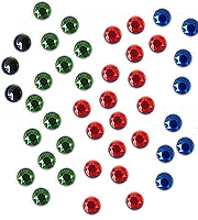 Special offer loose hotfix rhinestuds 4 mm - mixed colours