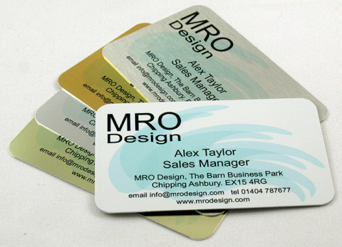 Aluminium business card