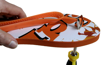 ea04e82a0 Assembly tool for adult and child flip flops for dye sublimation printing